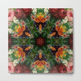 The Wheel of Roses Metal Print