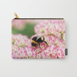 pink flowers and bee Carry-All Pouch