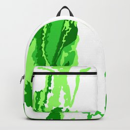 Abstract green print Backpack