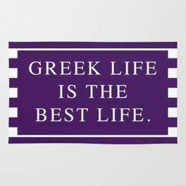 Greek Life Is The Best Life-Purple/White   Sorority Life   Digital Design Rug