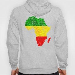Africa Map Reggae Rasta design Green Yellow Red Africa pride Hoody