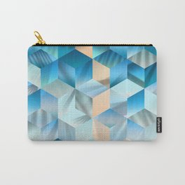 Smooth blue gradient cubes Carry-All Pouch