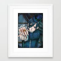 kuroshitsuji Framed Art Prints featuring The Queen's Watchdog by SandraG.N.