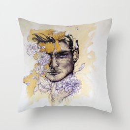 IN Gold Throw Pillow