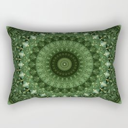 Mandala in olive green tones Rectangular Pillow