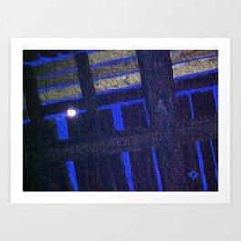 Moonlight through the rails Art Print