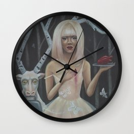 In The Birch Trees- Print Version Wall Clock