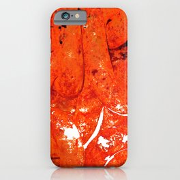 Red Abstract Art - Linked - By Sharon Cummings iPhone Case