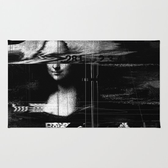 Mona Lisa Glitch Rug
