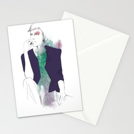 violet/green Stationery Cards