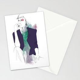 violet/green Stationery Cards
