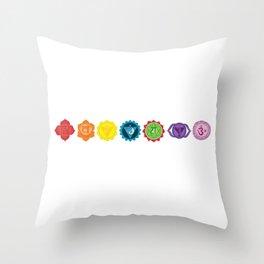 Seven chakra Throw Pillow
