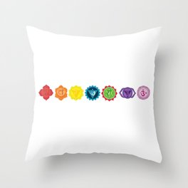 Seven chakra Throw Pillow