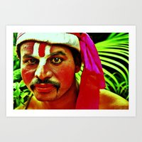 actor Art Prints featuring The Ramayana Actor by Gafoor