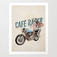 cafe racer Art Prints featuring Cafe Racer by Liviu Antonescu