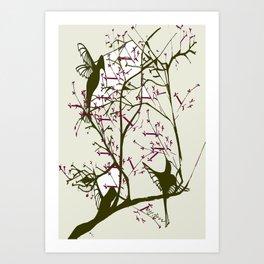 Hummingbirgds, before anything had a soul Art Print