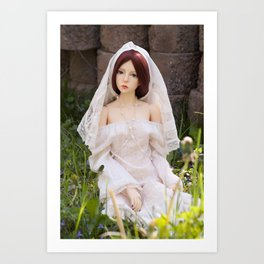 unmarried bride Art Print
