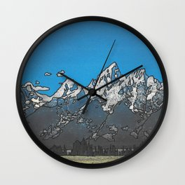 Grand Teton Wall Clock