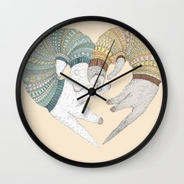 Ferret Sleep Love Wall Clock
