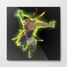 Golden Swords Metal Print