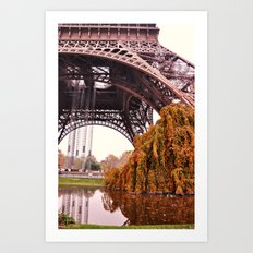 Autumn in Paris Art Print