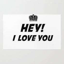 Hey, I Love You Rug