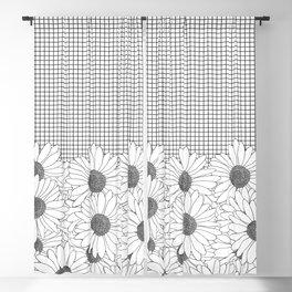 Daisy Grid Blackout Curtain