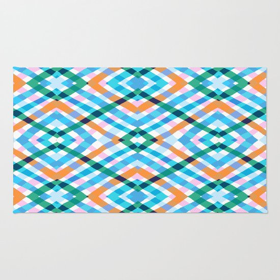 The rustic link based on tenun ikat Rug