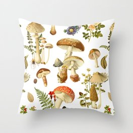 Mushroom Dreams Throw Pillow