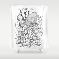 cthulhu Shower Curtains featuring Cthulhu by Jose Solano