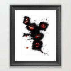 DEADLY KISSES Framed Art Print