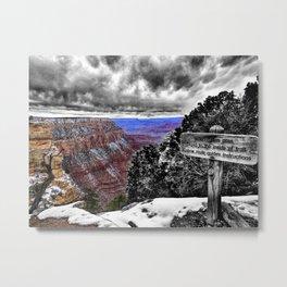 Grand Canyon Photograph Color/Black and White Mashup Metal Print