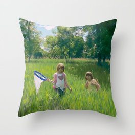 Hunting Party Throw Pillow