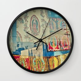 LA Window - Our Lady of Guadalupe Wall Clock