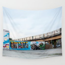 Chicago El and Mural Wall Tapestry
