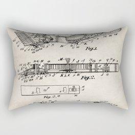 Barber Hair Clippers Patent - Barber Shop Art - Antique Rectangular Pillow