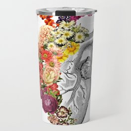 Flower Heart Spring White Travel Mug