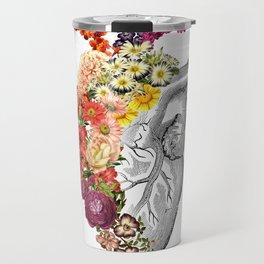 Flower Heart Spring White Travel Mug