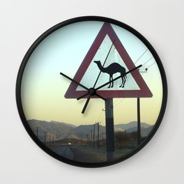 Camel Crossing Dubai  Wall Clock