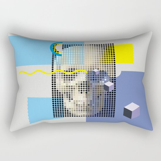 Compo with Skull Rectangular Pillow