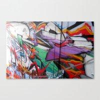 grafitti Canvas Prints featuring Grafitti by Anna Mundy