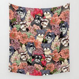 Because Schnauzers Wall Tapestry