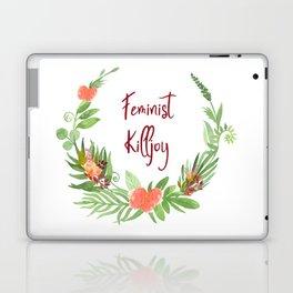 Feminist Killjoy - A Floral Wreath Laptop & iPad Skin