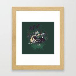Le Déjeuner sur l'herbe (universal monster) Framed Art Print
