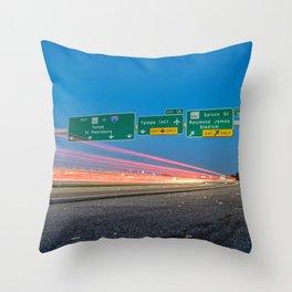 Highway to Light Throw Pillow
