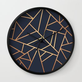Copper and Midnight Navy Wall Clock