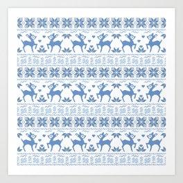 Christmas pattern. Cross-stitch. 2 Art Print