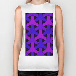 Geometric Design 2 (Purple) Biker Tank
