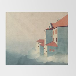 Castle in the Sky Throw Blanket