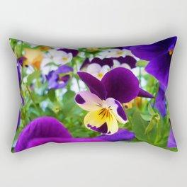 Pansies Rectangular Pillow